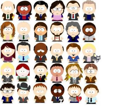 The Office as Southpark characters