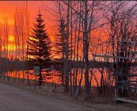 Sunrise at the Pigeon Lake, Alberta