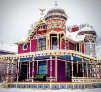 Victorian Mansion in Winter