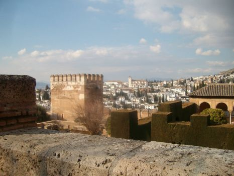 View from Alhambra over Granada