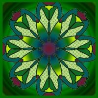 green stained glass