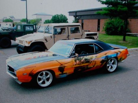 Wounded warrior, camero nuff said.(spunky & the banded).