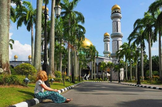 Jame' Asr Hassanil Bolkiah Mosque in Brunei