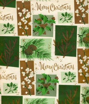 Xmas Wrap-Pine, Fir, Holly, Mistletoe & Snowberry?