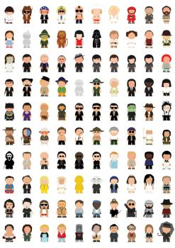 Movie icons in Southpark form
