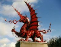 Red Dragon Memorial to 38th (Welsh) Division at Mametz Wood on the Somme.