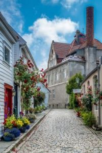 Old town streets of Stavanger, Norway