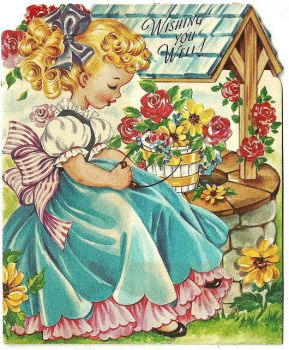 Themes Vintage Illustrations/pictures - wishing you well card