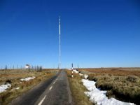 The Road to the TV Mast on winter Hill