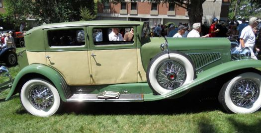 1929(?) Duesenberg with leather exterior coach