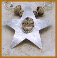 Picture Jasper Starfish Necklace
