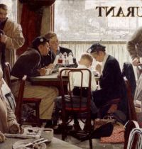 Cafe' Prayer by Norman Rockwell