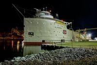 S/S Alpena unloads cement at LaFarge