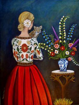 catherine nolan -woman with cat