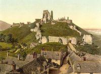 Corfe Castle, Dorset (old postcard)
