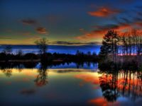 Beautiful Colorful Paulk Lake Sunset