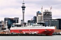 The Tamerlane in Auckland Harbor