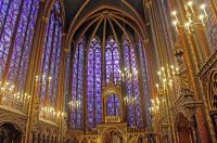 Another view of the interior of St. Chappelle chapel, Paris trip, Sep 2019