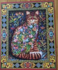 Tapestry Cat by Lewis T Johnson