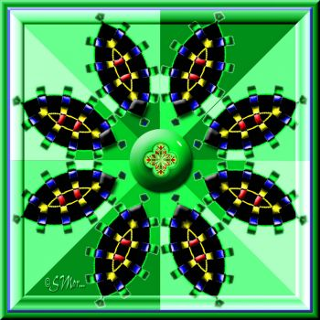 FOR SNOOKER -- Green Kaleido ....