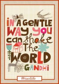 Shake the world... gently