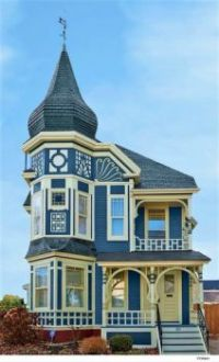 Blue and White Are  A Winner on Victorian House....