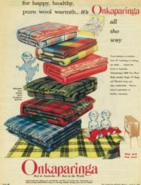 Vintage blanket advertisement.