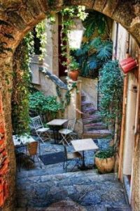 A cosy Courtyard, Provence, France