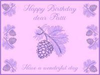 Happy Birthday dear Patti (PLG1958)