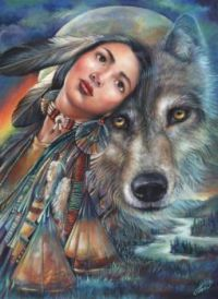 69- Dream of the Wolf Maiden- unknown Artist