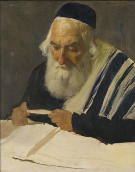 Lazar Krestin (Lithuanian, 1868–1938), Rabbi Reading