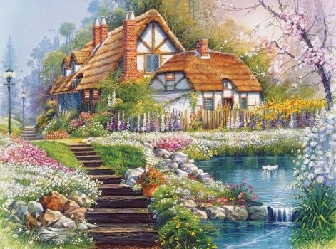 castorland-puzzle-cottage-with-swans