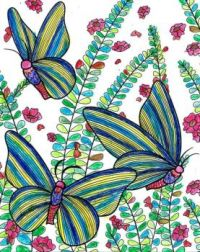 Coloring Birthday Butterflies For Irena (irmachac)