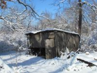 old shed in the snow