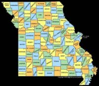 Map of the State of Missouri--County-wide