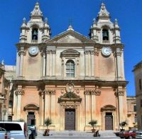 Saint Paul's Cathedral, Mdina (the quiet city),  Malta