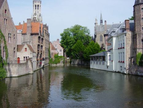 Old city center Bruges, Belgium