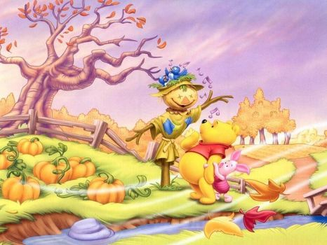Fall time with Pooh