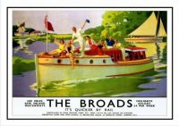 Themes Vintage Travel Poster - The Broads