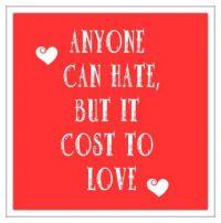 Love cost . . . . .