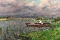 Isidore Verheyden (1846-1905) fishing