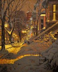 Winter Night  -  Robert Savoie