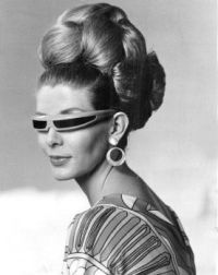 1968 hair and sunglasses