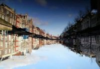 Reflection in the water, Leiden, Holland
