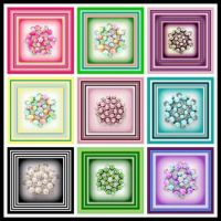 Colorful Pearl Brooches