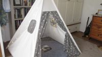 Piggly's Tipi is pee-free!