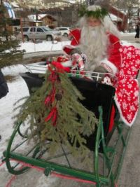 Santa at Canmore Alberta.