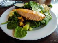 Baby Spinach Salad With Salmon