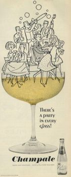 """Vintage """"Champale"""" advert from 1964"""