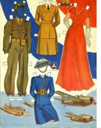 #2 1943 Air, Land and Sea Paper Dolls By missmissypaperdolls